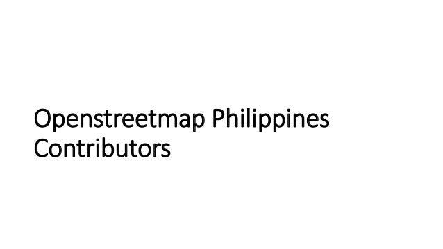 Openstreetmap Philippines  Contributors