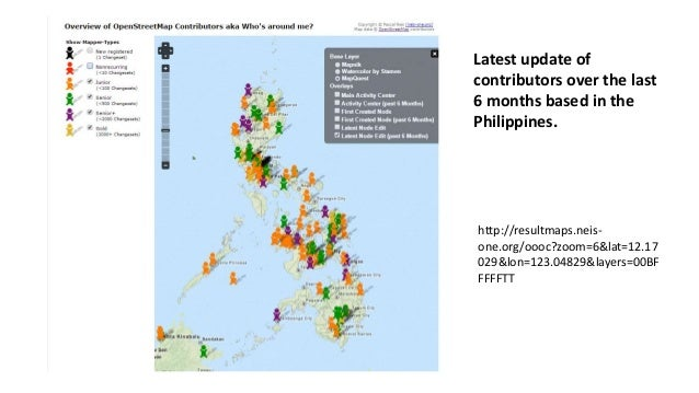 Latest update of  contributors over the last  6 months based in the  Philippines.  http://resultmaps.neis-one.  org/oooc?z...