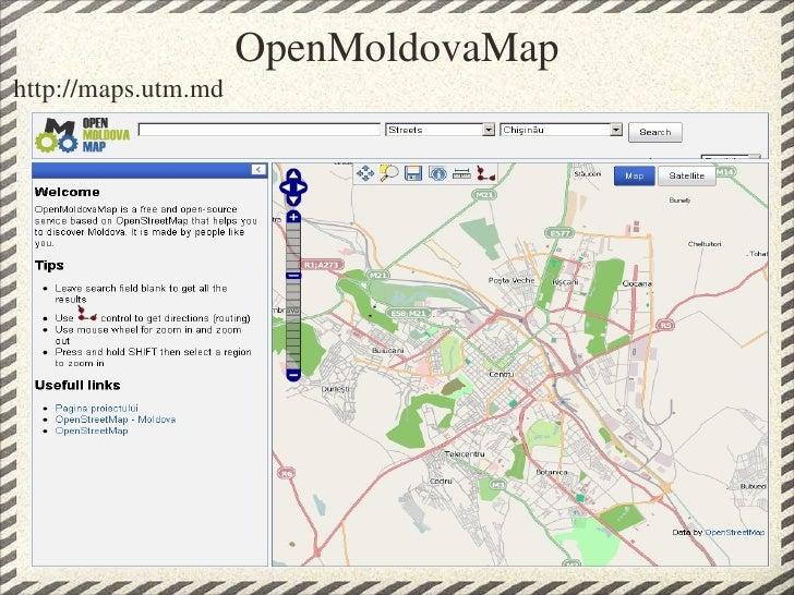 Open street map moldova project sotm09 openmoldovamap 8 publicscrutiny Image collections