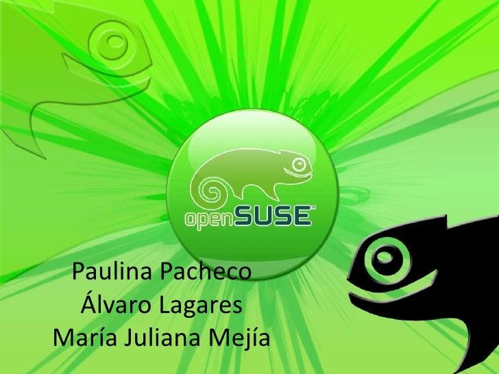 Paulina PachecoÁlvaro LagaresMaría Juliana Mejía<br />