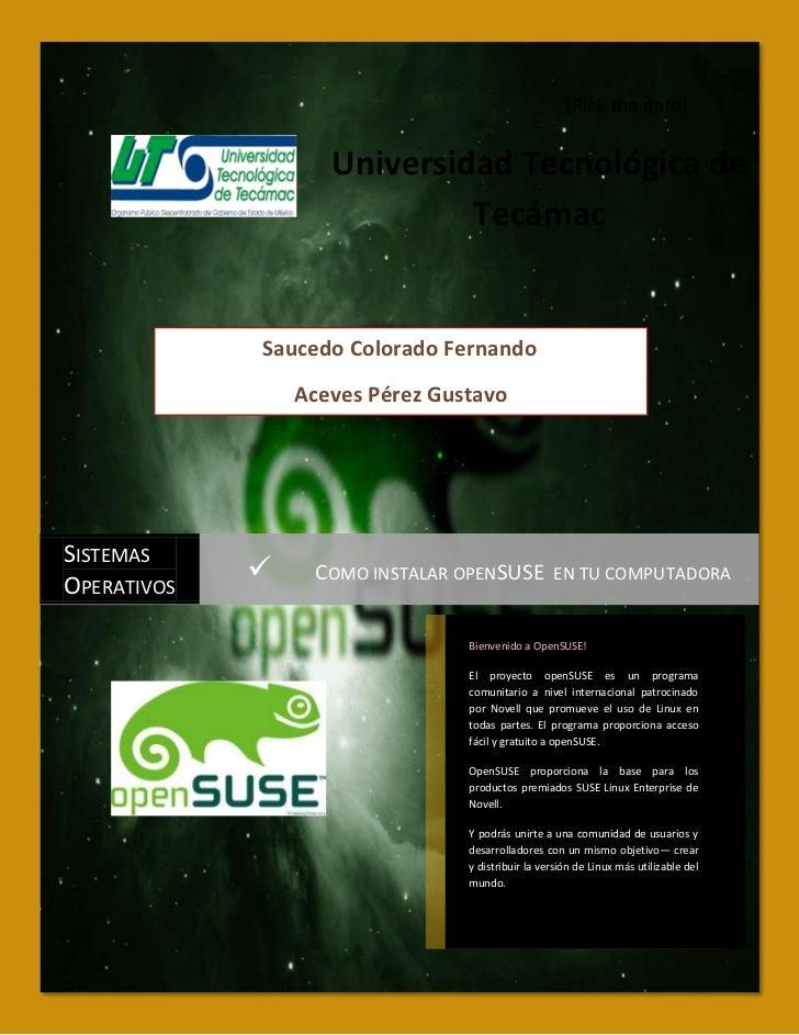 [Pick the date]                    Universidad Tecnológica de                             Tecámac             Saucedo Colo...