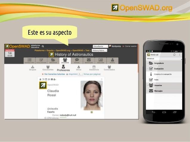 La plataforma educativa libre OpenSWAD.org Slide 3