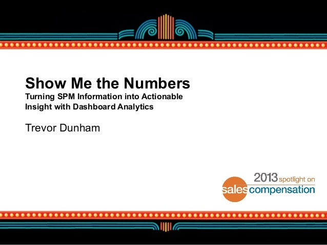 Show Me the Numbers Turning SPM Information into Actionable Insight with Dashboard Analytics  Trevor Dunham