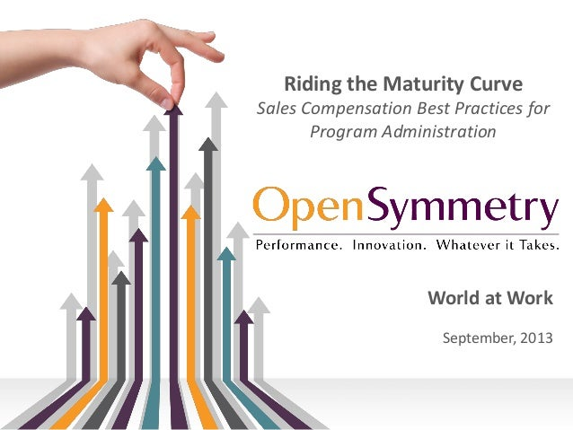 Riding the Maturity Curve Sales Compensation Best Practices for Program Administration  World at Work September, 2013