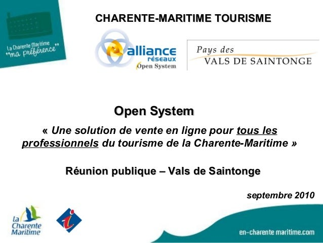 CHARENTE-MARITIME TOURISMECHARENTE-MARITIME TOURISME «« Une solution de vente en ligne pour tous les professionnels du tou...