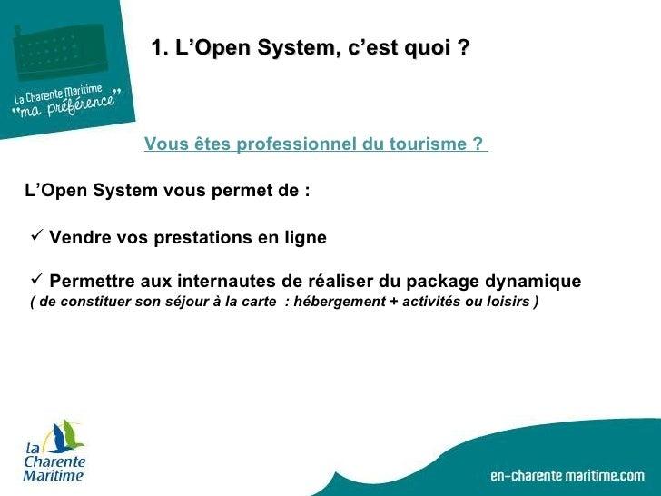 Open system une place de marché pour tous les professionnels du tourisme Slide 2