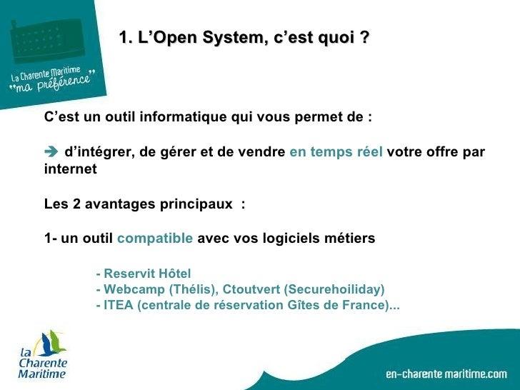 Open system une place de marché pour tous les professionnels du tourisme Slide 3