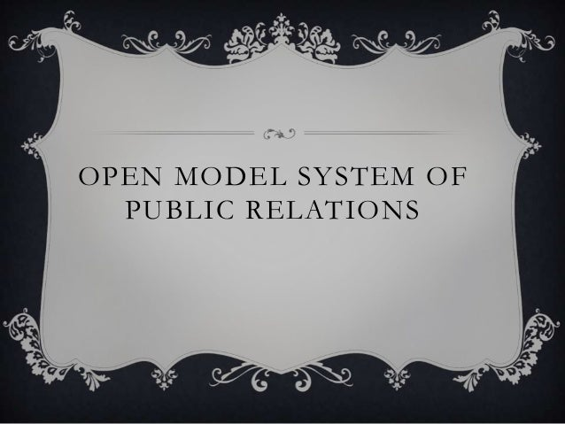 OPEN MODEL SYSTEM OF PUBLIC RELATIONS