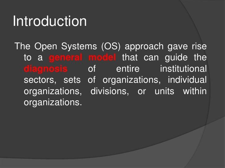 Open System Models Slide 2
