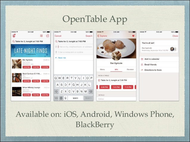 Open Table Pdf - Open table app for android