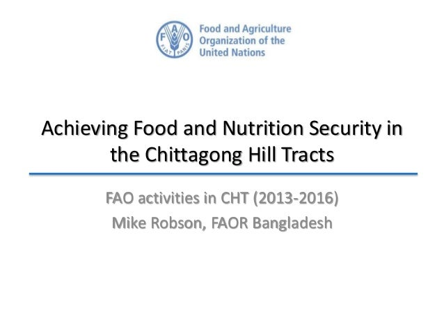 Achieving Food and Nutrition Security in the Chittagong Hill