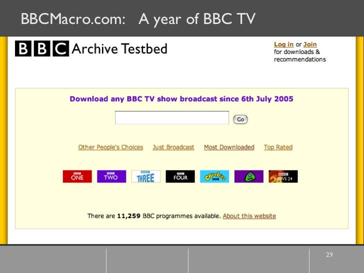BBCMacro.com:  A year of BBC TV