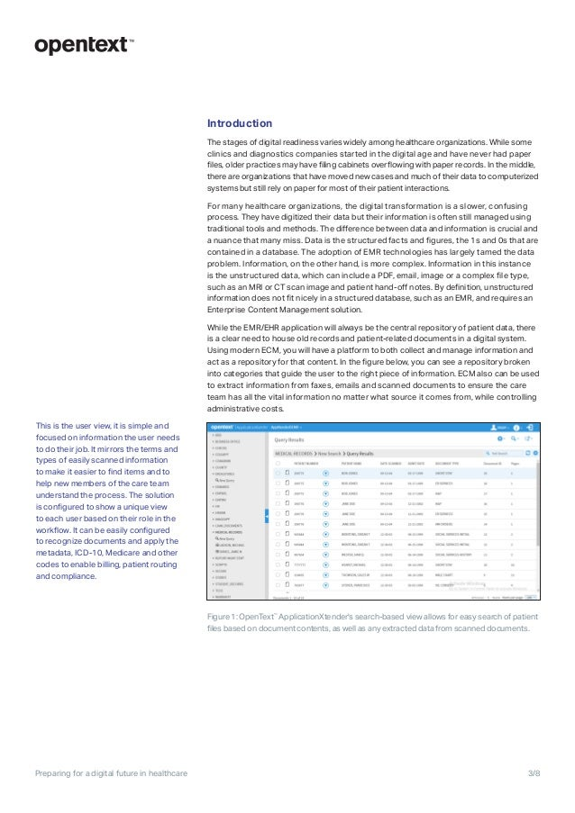 OpenText Content Services for healthcare Slide 3