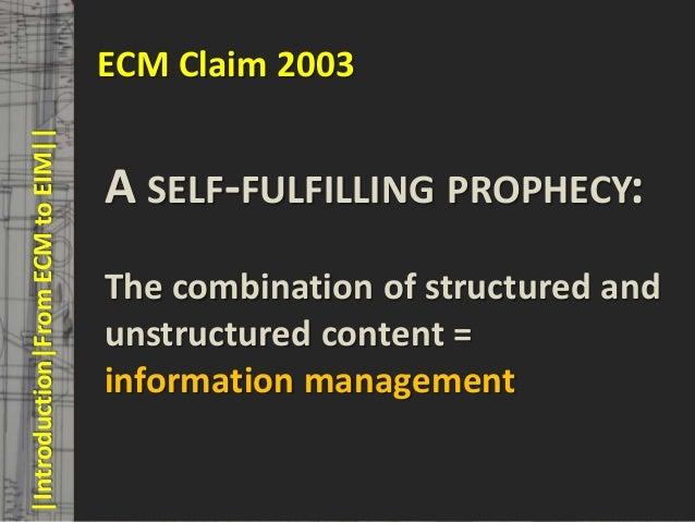 ECM Claim 2003       |Introduction|From ECM to EIM||     © PROJECT CONSULT Unternehmensberatung Dr. Ulrich Kampffmeyer Gmb...