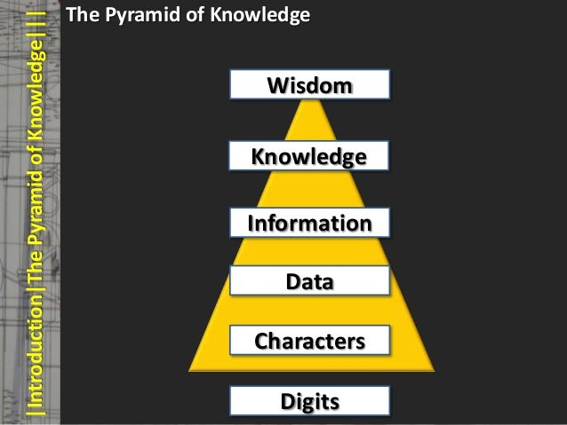The Pyramid of Knowledge       |Introduction|The Pyramid of Knowledge|||       © PROJECT CONSULT Unternehmensberatung Dr. ...