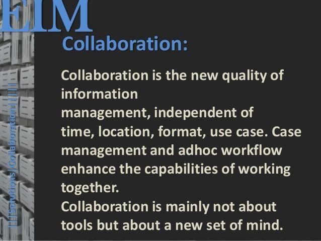 EIM  Collaboration:                                         © PROJECT CONSULT Unternehmensberatung Dr. Ulrich Kampffmeyer ...