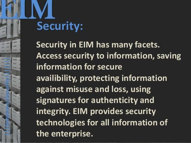 EIM  Security:                                         © PROJECT CONSULT Unternehmensberatung Dr. Ulrich Kampffmeyer GmbH ...