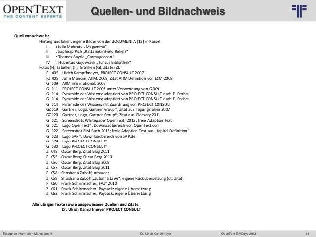 Quellen- und Bildnachweis                                    © PROJECT CONSULT Unternehmensberatung Dr. Ulrich Kampffmeyer...