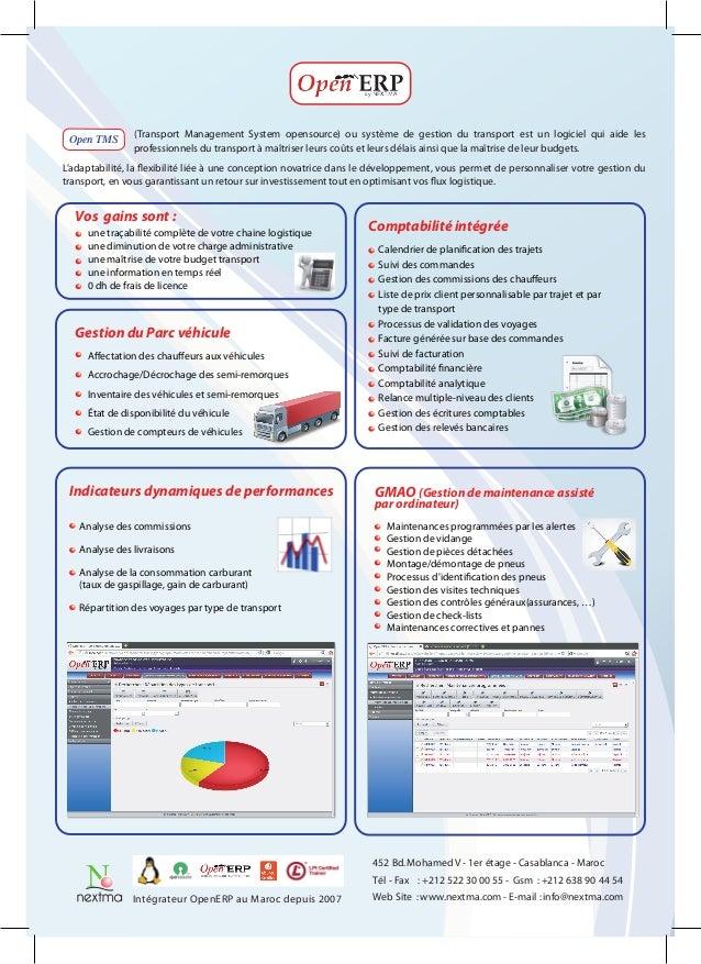 (Transport Management System opensource) ou système de gestion du transport est un logiciel qui aide les Open TMS         ...