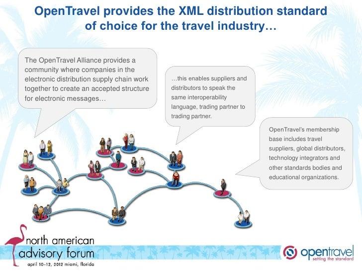 OpenTravel Schema Product Comparison - Travel alliance