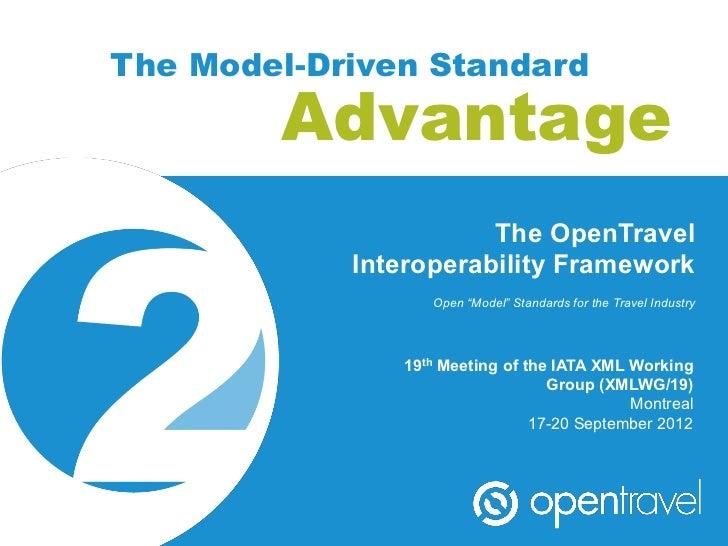 The Model-Driven Standard        Advantage                       The OpenTravel            Interoperability Framework     ...