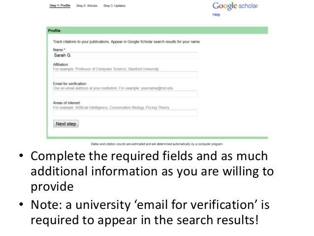 how to set up your google scholar profile  google scholar