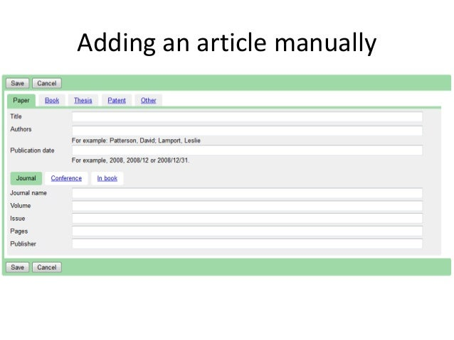 How to set up your Google Scholar profile (Google Scholar Citations)