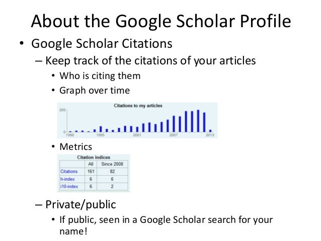 How to set up your google scholar profile google scholar citations 4 about the google scholar ccuart Image collections