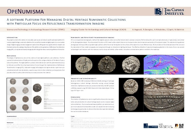 A software Platform For Managing Digital Heritage Numismatic Collections with Particular Focus on Reflectance Transformati...