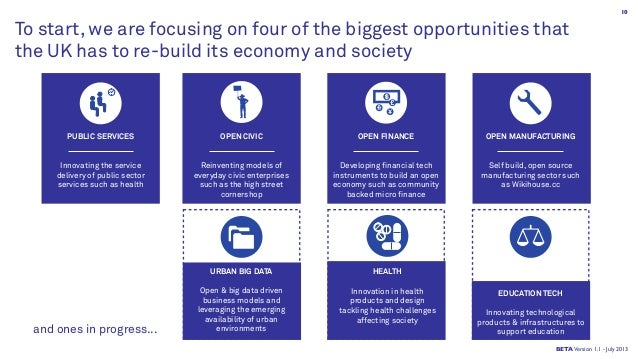To start, we are focusing on four of the biggest opportunities that the UK has to re-build its economy and society OPEN CI...