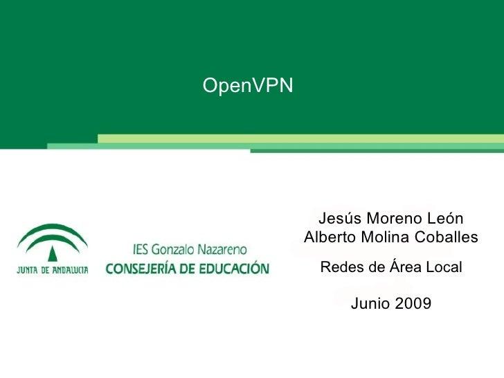 OpenVPN                 Jesús Moreno León           Alberto Molina Coballes             Redes de Área Local               ...