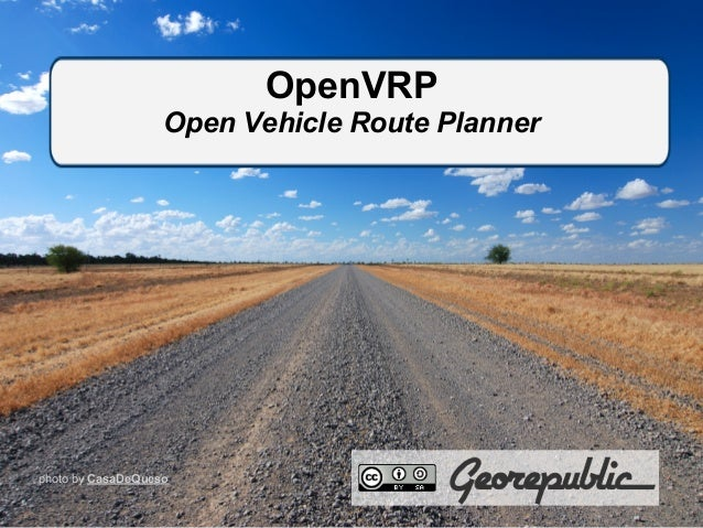 OpenVRP Open Vehicle Route Planner photo by CasaDeQueso