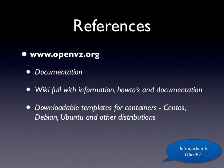 Openvz - a quick introduction