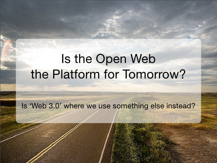 The Case for the Open Web     Is web 3.0 where we give up and use something else?     © Sitepen Inc. 2008. All Rights Rese...