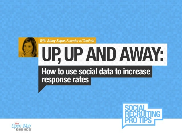 With Stacy Zapar, Founder of TenFold  UP, UP AND AWAY:  How to use social data to increase  response rates