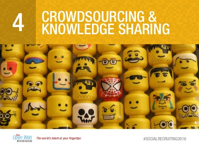 The world's talent at your fingertips #SOCIALRECRUITING2016 CROWDSOURCING & KNOWLEDGE SHARING4