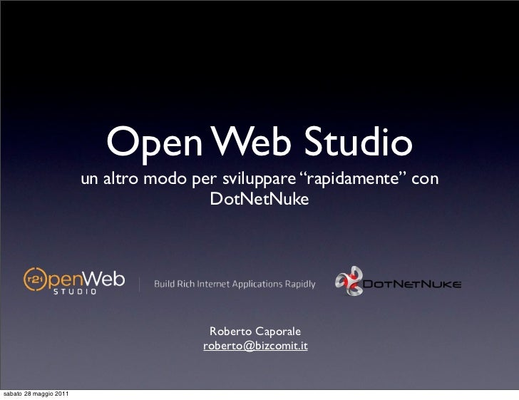 """Open Web Studio                        un altro modo per sviluppare """"rapidamente"""" con                                     ..."""