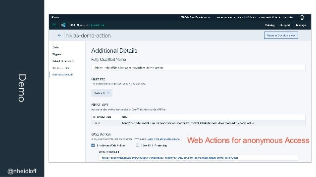 Demo @nheidloff Web Actions for anonymous Access