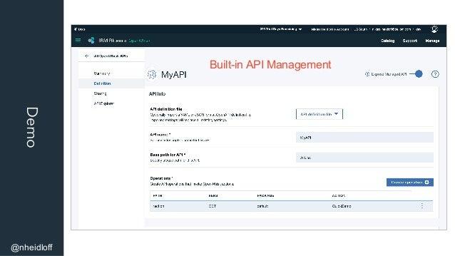 Demo @nheidloff Built-in API Management