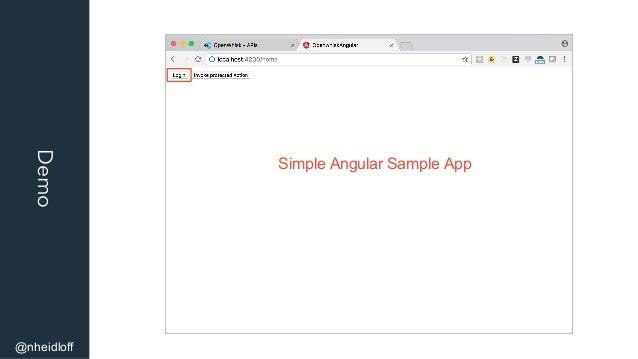 Demo @nheidloff Simple Angular Sample App