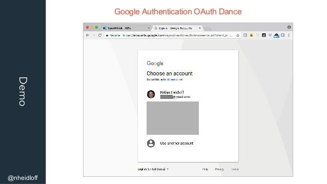Demo @nheidloff Google Authentication OAuth Dance