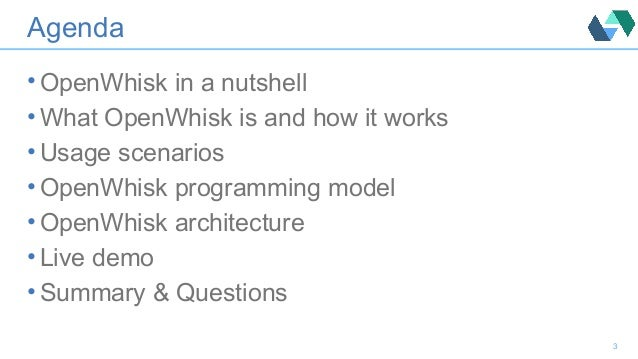 OpenWhisk Introduction Slide 3