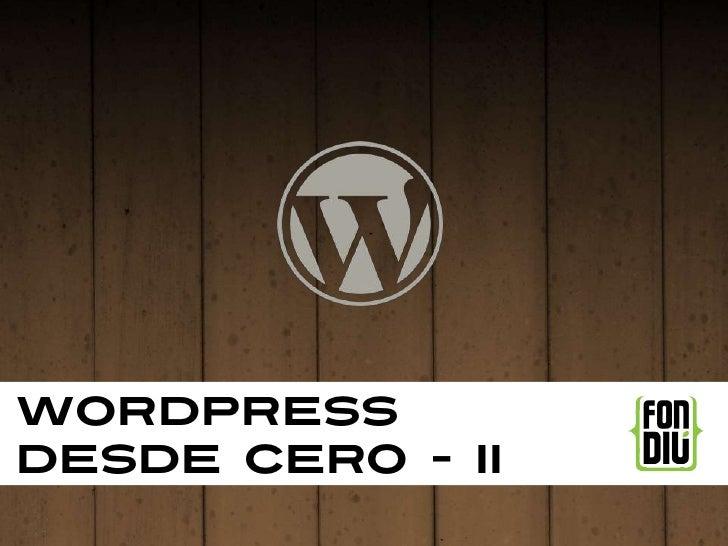 Wordpressdesde cero - II