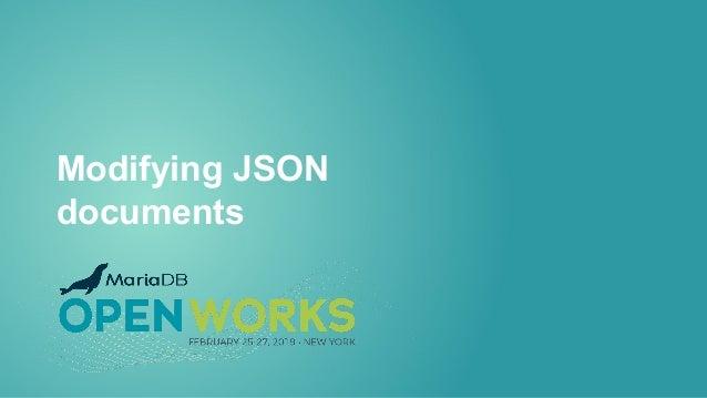 Modifying JSON documents