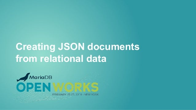 Creating JSON documents from relational data