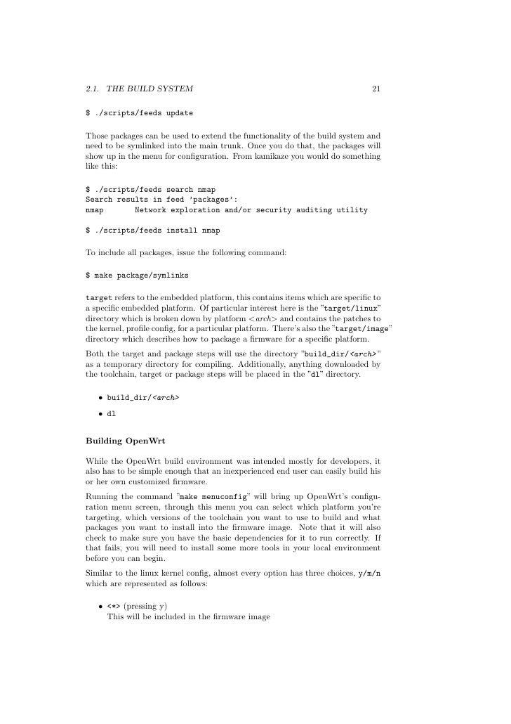 OpenWRT manual