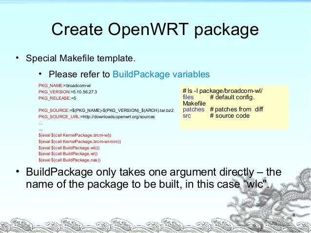 openwrt guide and memo rh slideshare net OpenWrt Interface OpenWrt Kamikaze