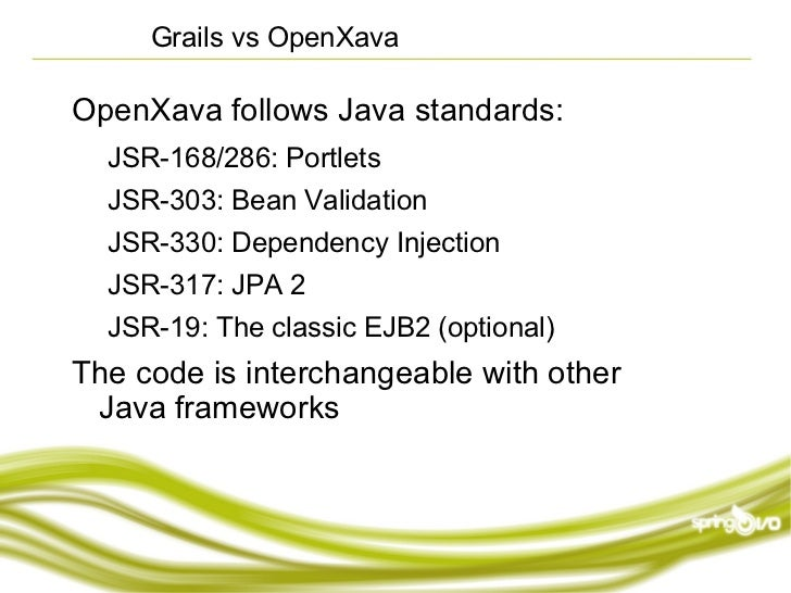 OpenXava: Rapid Development for Business Applications