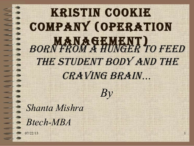 solution kristens cookie company