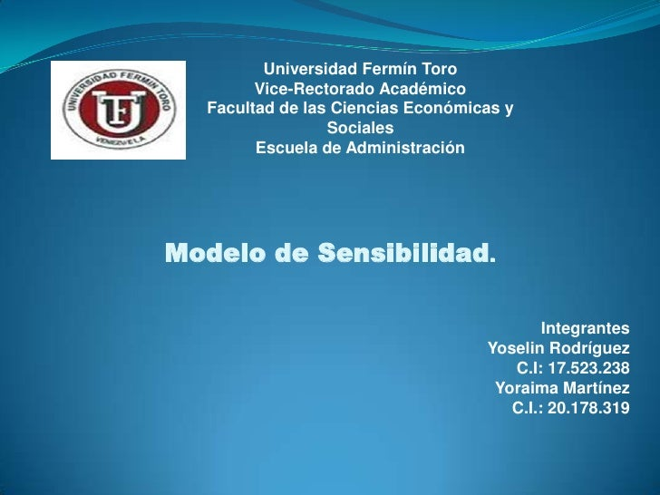 Universidad Fermín Toro        Vice-Rectorado Académico  Facultad de las Ciencias Económicas y                 Sociales   ...